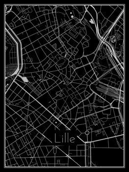 Karta över Lille