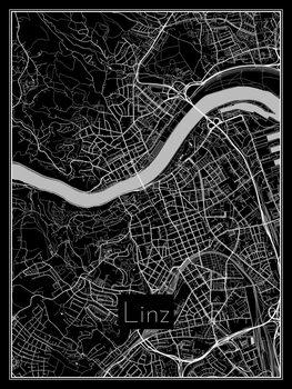 Karta över Linz