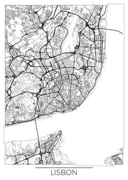Karta över Lisbon
