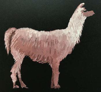 Konsttryck Llama