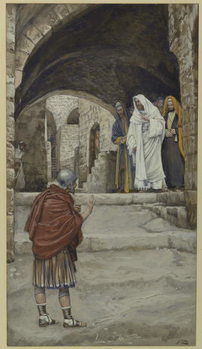 Konsttryck Lord, I Am Not Worthy, illustration from 'The Life of Our Lord Jesus Christ'