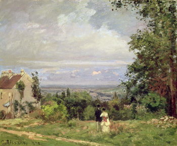 Konsttryck Louveciennes, 1870