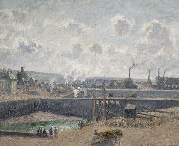 Konsttryck Low Tide at Duquesne Docks, Dieppe, 1902