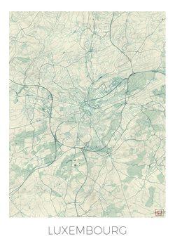 Karta över Luxembourg