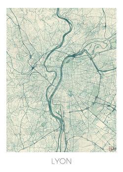 Karta över Lyon