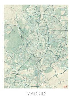 Karta över Madrid