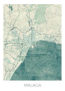 Karta över Malaga
