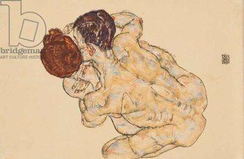 Konsttryck Man and Woman (Embrace); Mann und Frau (Umarmung), 1917