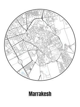 Karta över Marrakesh