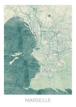 Karta över Marseille