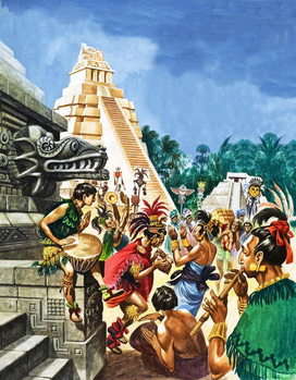 Konsttryck Mayan Cities