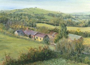 Konsttryck Meadow Farm Cottage, 1999