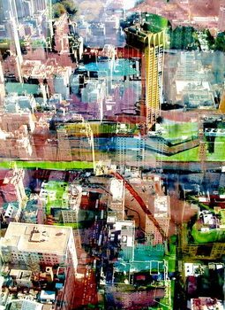 Konsttryck Metropolis II