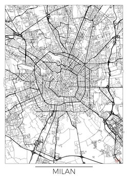 Karta över Milan