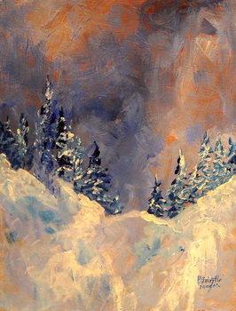 Konsttryck Mist on the Snow Peak, 2009,