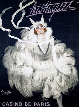 Konsttryck Mistinguett (1872-1956) at Casino de Paris, 1920, poster illustrated by Leonetto Cappiello , France, 20th century