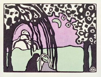 Konsttryck Moonrise, from 'Der Blaue Reiter', 1911