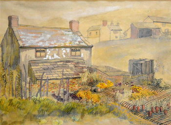 Konsttryck Moorland Cottage,2014