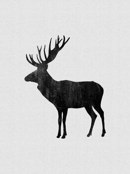 Illustration Moose Painting