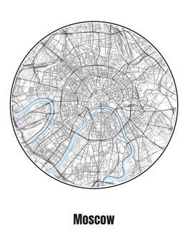 Karta över Moscow