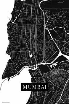Karta över Mumbai black