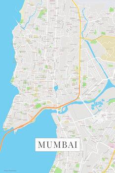 Karta över Mumbai color