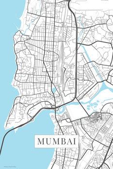 Karta över Mumbai white