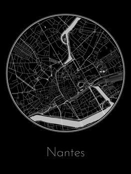 Karta över Nantes