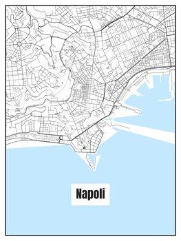 Karta över Napoli