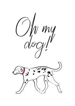 Illustration Oh my dog