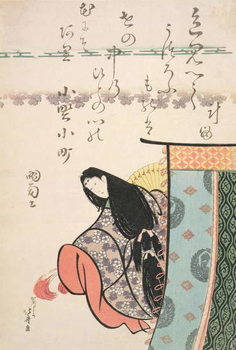 Konsttryck Ono no Kamachi, from the series 'The Six Immortal Poets', c.1810