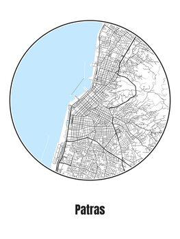 Karta över Patras
