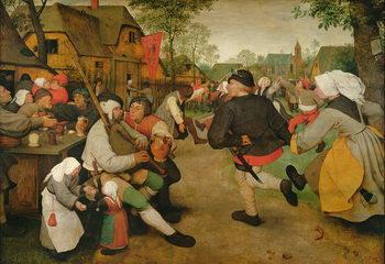 Konsttryck Peasant Dance, 1568