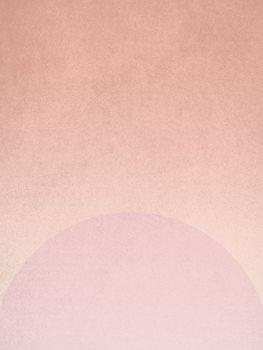 Illustration planet pink sunrise