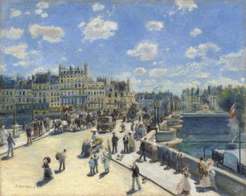 Konsttryck Pont Neuf, Paris, 1872