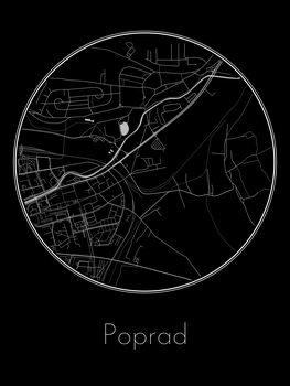 Karta över Poprad