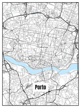 Karta över Porto