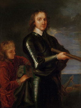 Konsttryck Portrait of Oliver Cromwell (1599-1658)