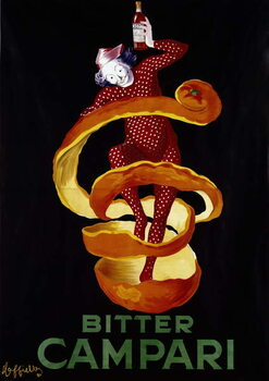 Konsttryck Poster for the aperitif Bitter Campari. Illustration by Leonetto Cappiello  1921 Paris, decorative arts