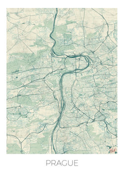 Karta över Prague