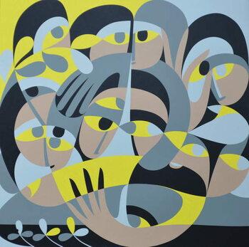 Konsttryck Presence III, 1987