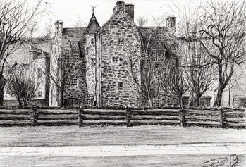 Konsttryck Queen Mary's house Jedburgh, 2006,