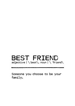 Illustration Quote Best Friend Family