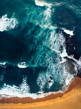 Exklusiva konstfoton Random beach of Portugal