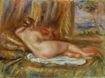 Konsttryck Reclining nude, 1914