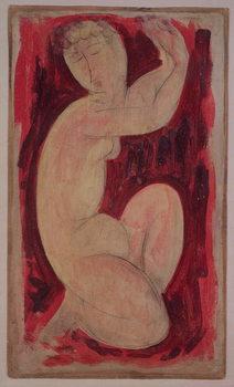 Konsttryck Red Caryatid, 1913