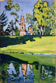 Konsttryck Red Church, 1900