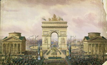 Konsttryck Return of the Ashes of the Emperor to Paris, 15th December 1840