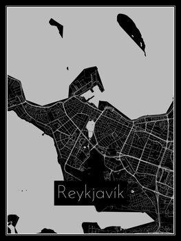 Karta över Reykjavík