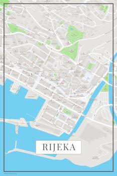 Karta över Rijeka color